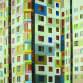 Toonbeeld marianne Plattenbau 100x100 cm olieverf op doek 2015 13039