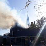 Zeer grote brand in kerk Limmen