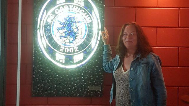 Kunstwerk Judith Lang in kantine FC Castricum