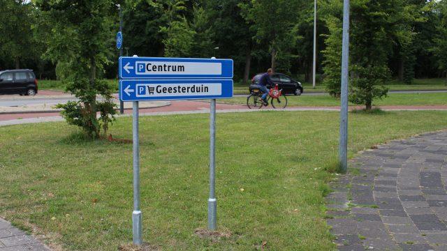 Parkeerroute voor centrum en winkelcentrum Geesterduin klaar